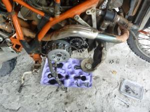 waterpump seal replacement at lake toba, indonesia