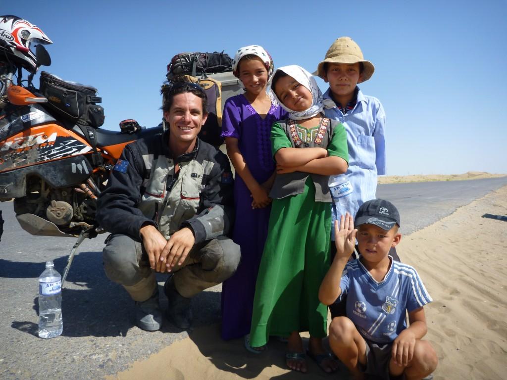 in the karakhorum desert, turkmenistan